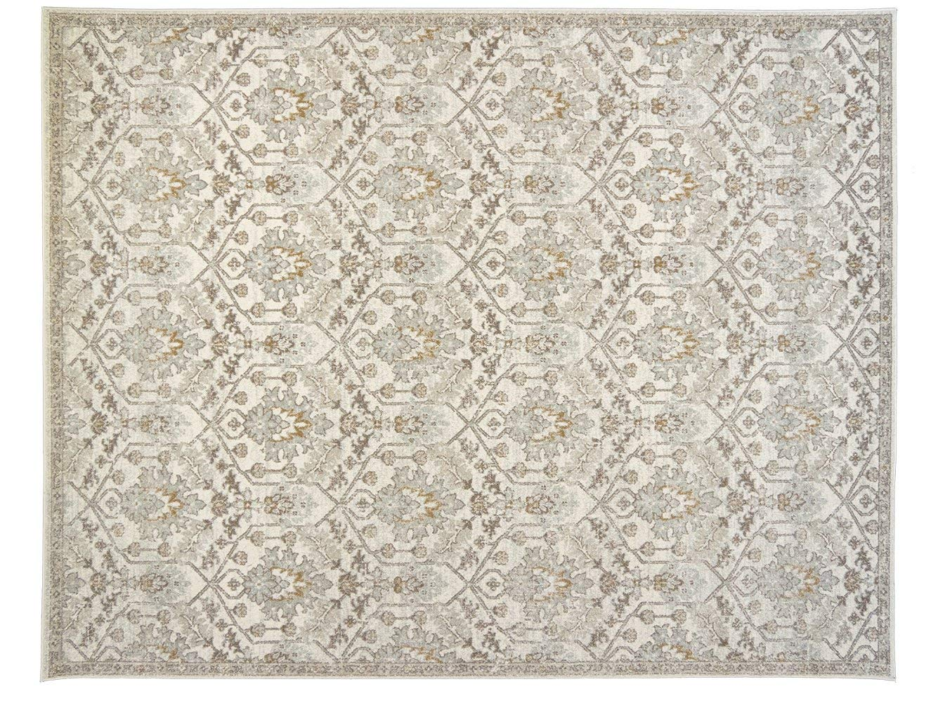 Buy Sultan Medallion Ivory Blue Oriental Area Rug 2x4 23