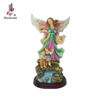 Guardian angel wall resin sculpture The Children's Guardian Angel Wall Plaque Resin sculpture