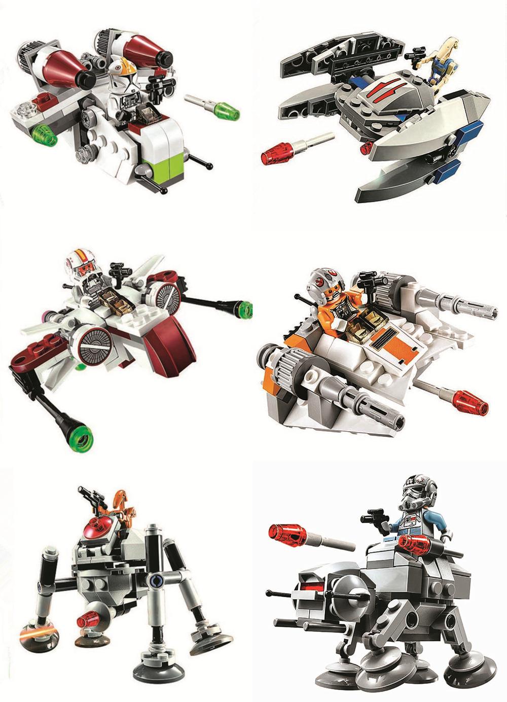 Bela 10359 Stars Wars The Avengers Starfighter Minifigures 6pcs/lot Building Blocks Set Model Toys Compatible With Legoe 75072