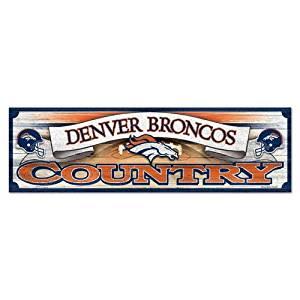 Denver Broncos 9x30 Wood Sign