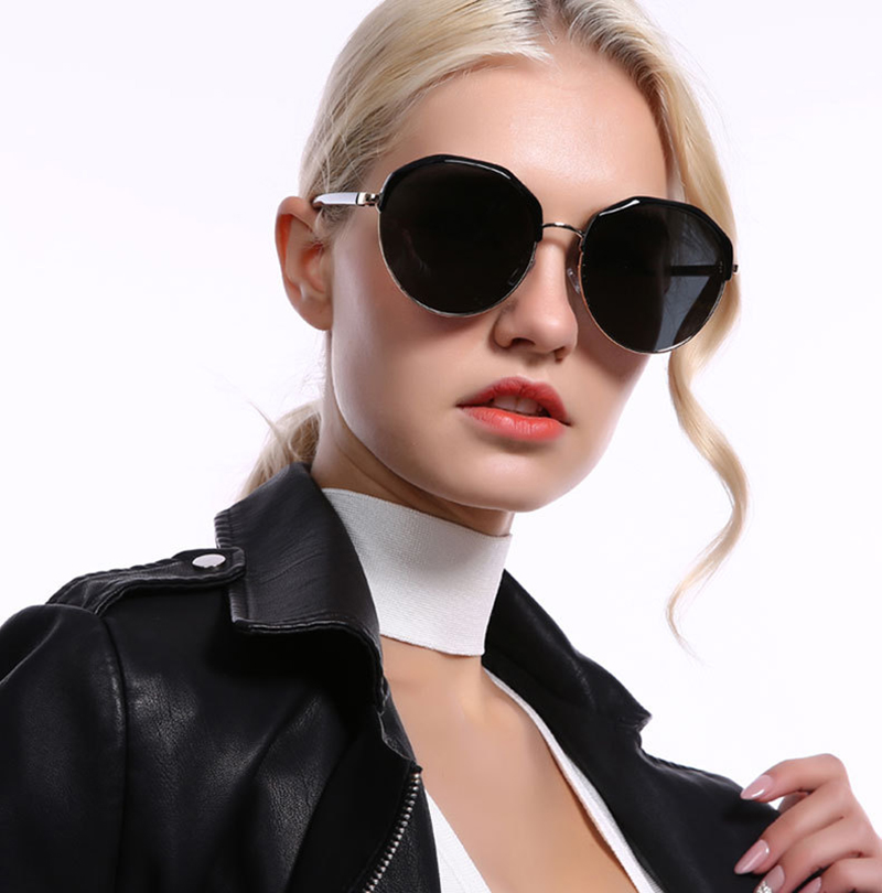 Beautiful new arrival fancy frame ladies sun glasses shipping holiday round polarized women sunglasses 2019
