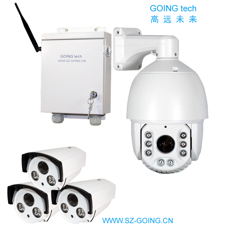 GOING tech H.265+ 5MP wireless security  wifi 1 PTZ with 1T harddisk + 3 Bullet camera support AI human detection