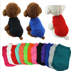 Pet products pet Spring and summer dog T-shirt cotton pure color dog clothes small dog shirts