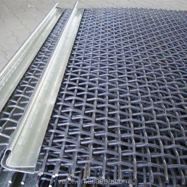 crimped wire mesh with close edge 6mm diameter