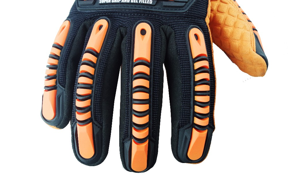 Seibertron HIGH-VIS SDXO2 Oilproof and Waterproof Impact Protection Gloves,High Impact Resistant Safety Gloves
