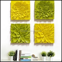 Brand New Flower Wall Art Decor WIth Yellow And Green Color For Home Decor Interior Decorating Hotel Furniture For Sale