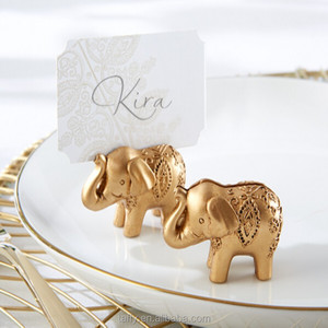 2017 new wedding party table decorations supplies Gold Indian Asian Lucky Elephant Wedding table number Place Card Holder