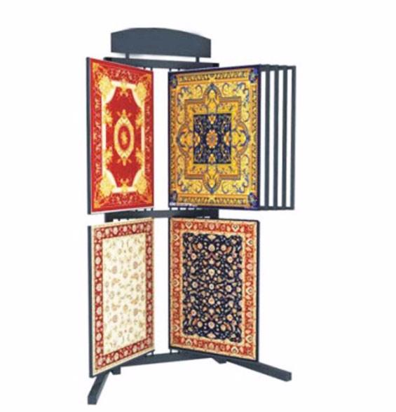 Hanging Rug Display Rack Metal Carpet Rack For Exhibition