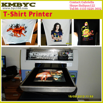 Cheap direct to garment printer knitting machine fabric for Cheapest t shirt printing machine
