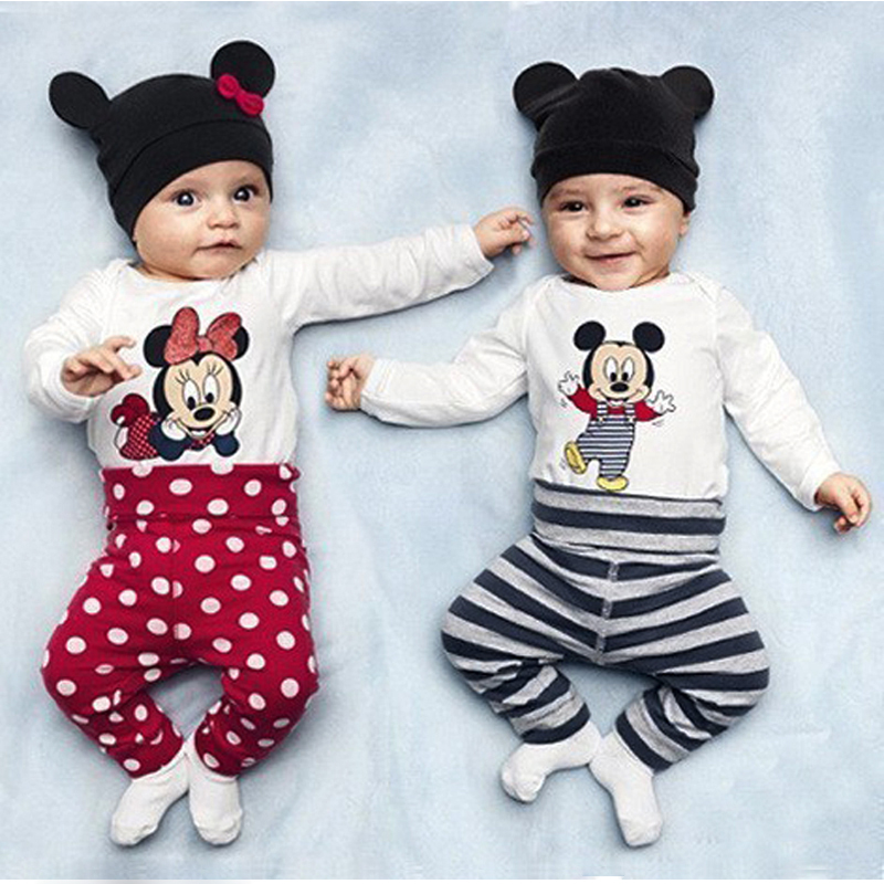 bf3e2fca5fcaf Baby Rompers Cartoon Baby Long Sleeve Clothing Set Summer Jumpsuit Baby  Girl Clothes Newborn Costume 3PCS Animal Baby Rompers