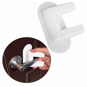 New upgrade baby safety lever door handle lock plastic child safety door handle lock