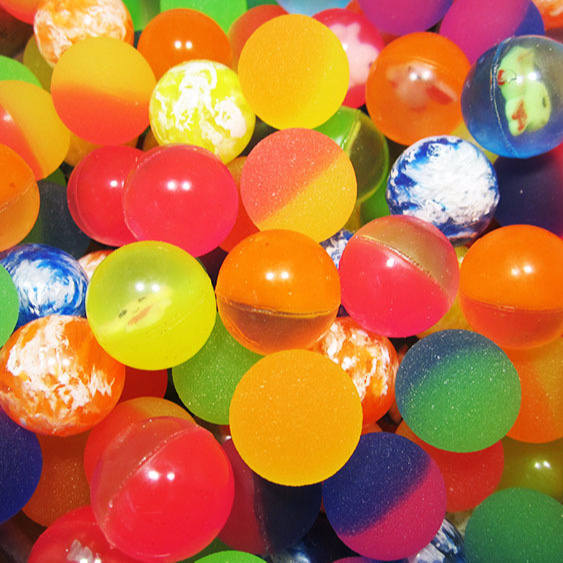 """250 Bouncy Balls 1/"""" Bounce Party Fillers Super Favor Bright Solid Color High Hot"""