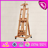 2016 high quality kids wooden painting easel,wholesale baby wooden painting easel,cheap kids painting easel W12B033-M2