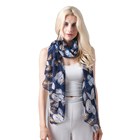 Wholesale brand design Navy owl printed fashion spring women shawl scarf