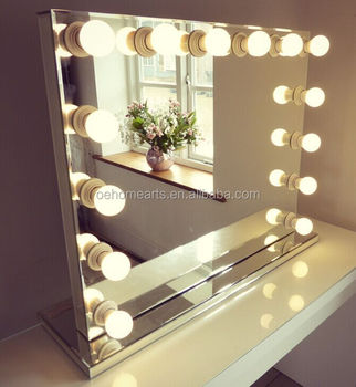 Chic hollywood style vanities and mirrors with bulbs buy hollywood style vanities hollywood - Hollywood spiegel lampen ...