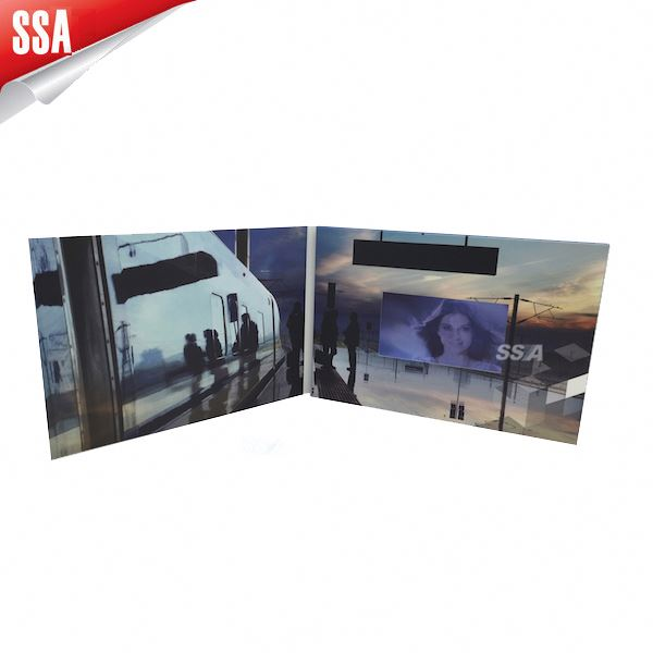 2014 new Touch screen 7inch video advertising card/ video LCD book. LCD greeting card/ video brochure