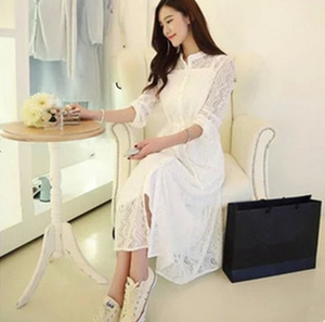 2017 Atmosphere aristocratic temperament condole single-breasted twinset of bud silk chiffon dress in summer ann autumn