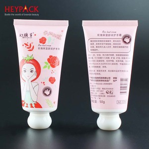 Small Lid Lovely Hand Cream Packing 50g Capacity Plastic Tubes