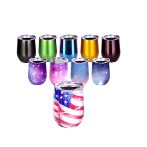 Amazon Hot Sale Double Wall Stainless Steel Wine Glass Tumbler Sublimation Blanks