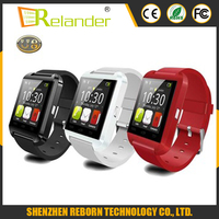 Bluetooth 3.0 1.44 inch screen MTK6261D Barometer pedometer U8 smart wrist watch for IOS/Android