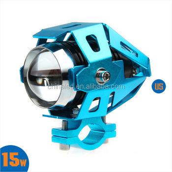 U5 Transformers LED Laser Gun Daylight Motorcycle LED Headlight Moto Bike  Headlamp Spot Strobe Light For