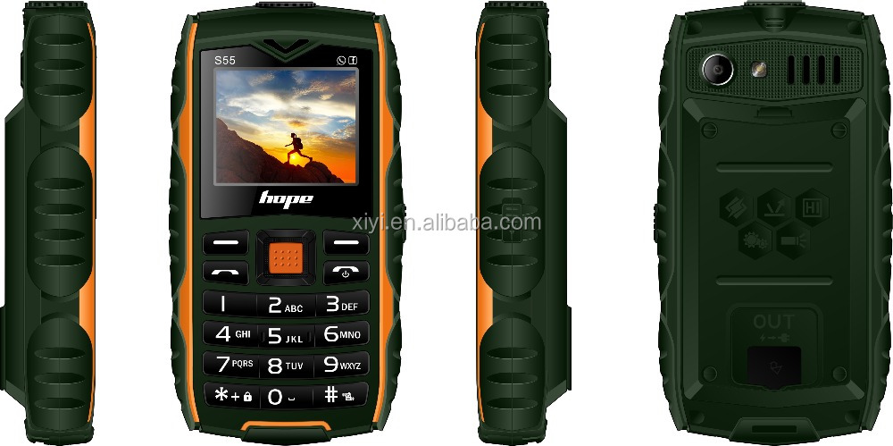 2016 dual sim cards cheap mobile water proof rugged phone longcradle charge senior phone ce rohs senior phone S55