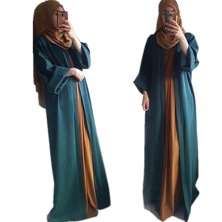 Newest Fashion Women Plain Islamic Clothing 2018 Abaya in Dubai фото