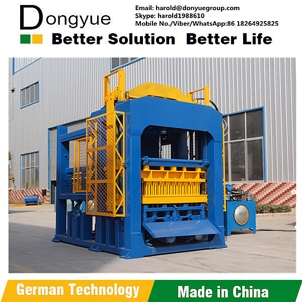 Concrete Brick Raw Material and Concrete Block Molding Processing hollow block making machine