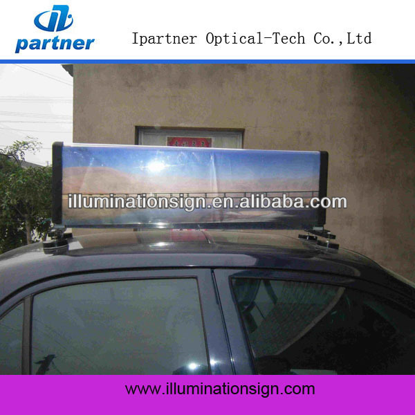 Taxicab Car Roof Signal Display Advertising Taxi Light Box