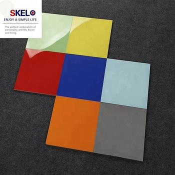 China Solid Color High Glossy Flooring Ceramic Tile Colorful