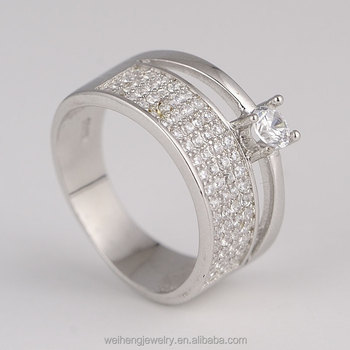 rhodium plating vietnam silver jewelry OEM color aaaaa cubic zirconia rings  for women 71a95478bd