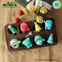 customized cute cartoon FDA silicone candy/chocolate mold