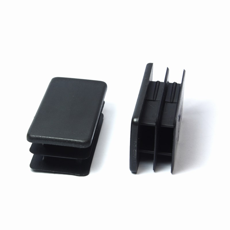 Injection molding plastic rectangular end cap/pipe plug for chair