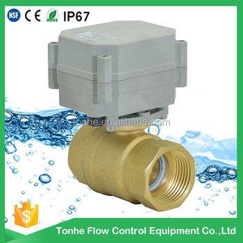 DN20 DC5v brass CR201 motorized auto electric water shut off valve