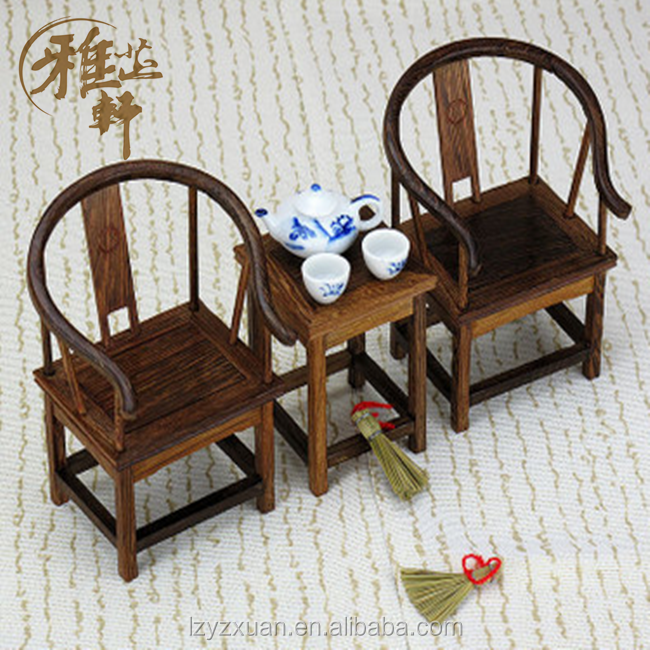 2016 Hot Sale Wenge Crafts Chinese Antique Wooden Miniature Furniture For Decoration