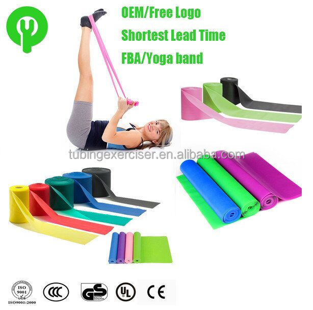 Custom size colored elastic natural latex rubber sheet for fitness