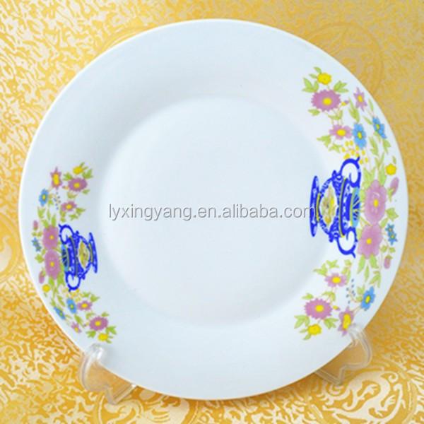 barato blanco plato de comida para el per el per marekt On platos de ceramica baratos