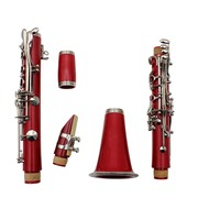 Wholesale 17 Keys Bb Tone Red Colour Clarinet For Sale (DYCL-180RD)