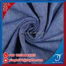 Super good quality breathable pure cotton slub pure color checked 100% cotton fabric for shirt