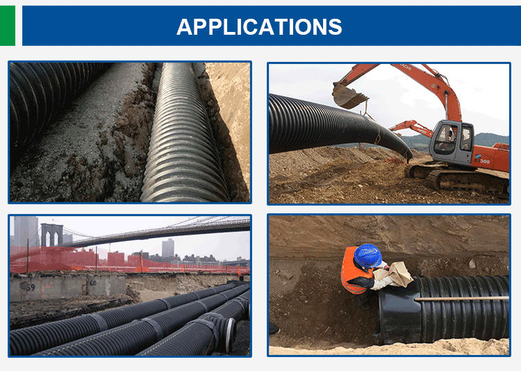 PE100 Hdpe Pipe Yard Sprinkler Repair Mains Sewerage