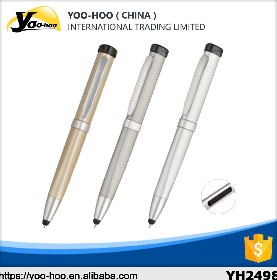 Hot sale high quality touch screen metal ball pen home and office usb flash disk ball pen by China supplier