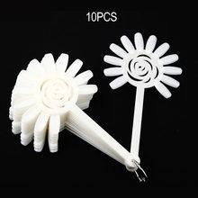 Накладные ногти ROSALIND дизайн прозрачный Натуральный гель-Дисплей Палитра для обучения все для маникюра веер инструменты для дизайна ногтей(Китай)