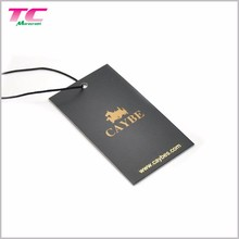 Classic Design Printed Paper Hang Tags Clothes Hang Tags With Gold Foil Logo