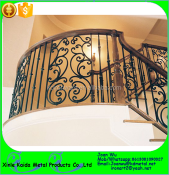 Satin Black Tuscan Iron Panels For Indoor Stair Railing