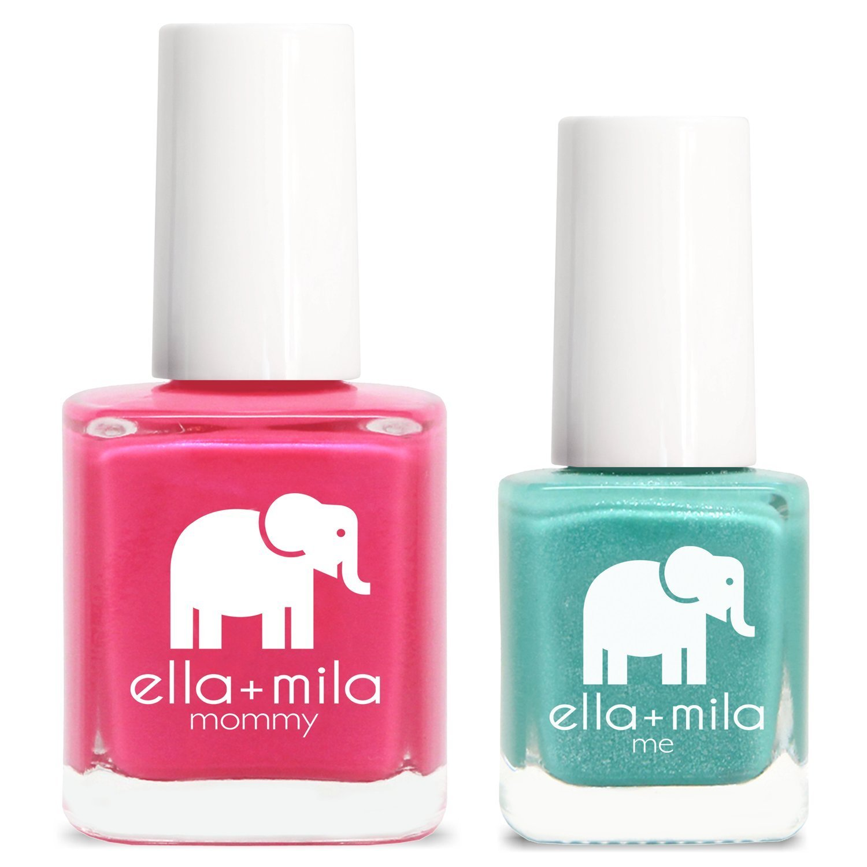 Buy Ella Mila Nail Polish Mommy Me Set Cosmo Pink Glitter Me