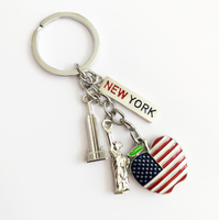 wholesale new york tourist souvenir gifts key chain statue of liberty keyring key holder