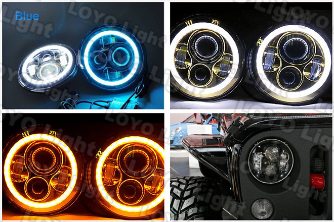5.75inch headlight for harley davidson, 80W led head light for harley motorcycle