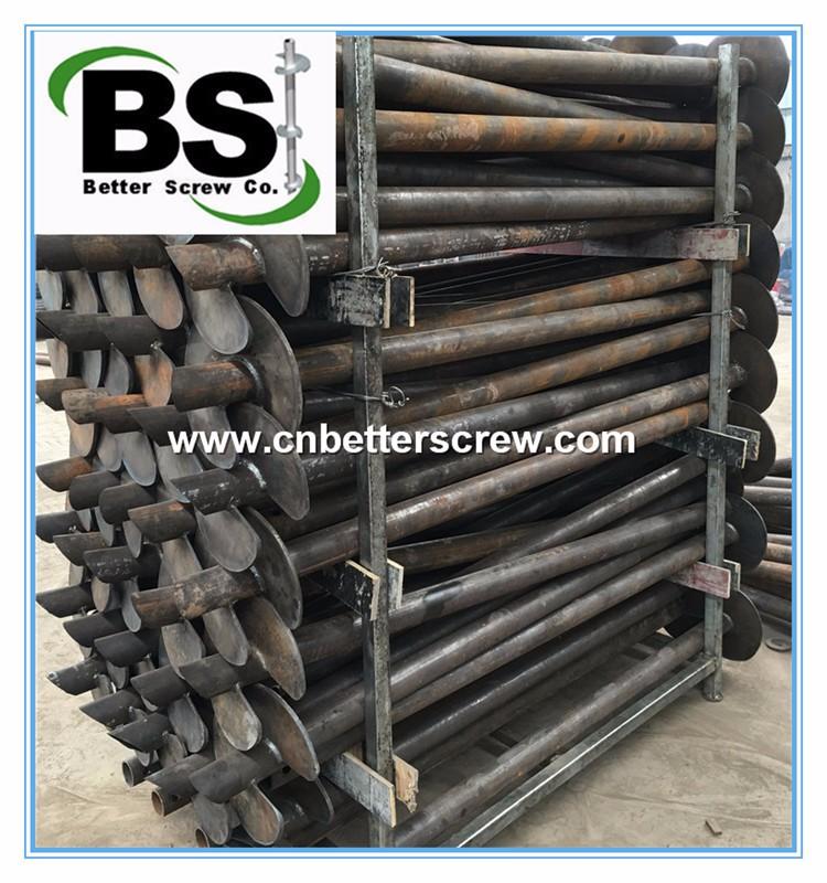 steel screw piles underpinning support