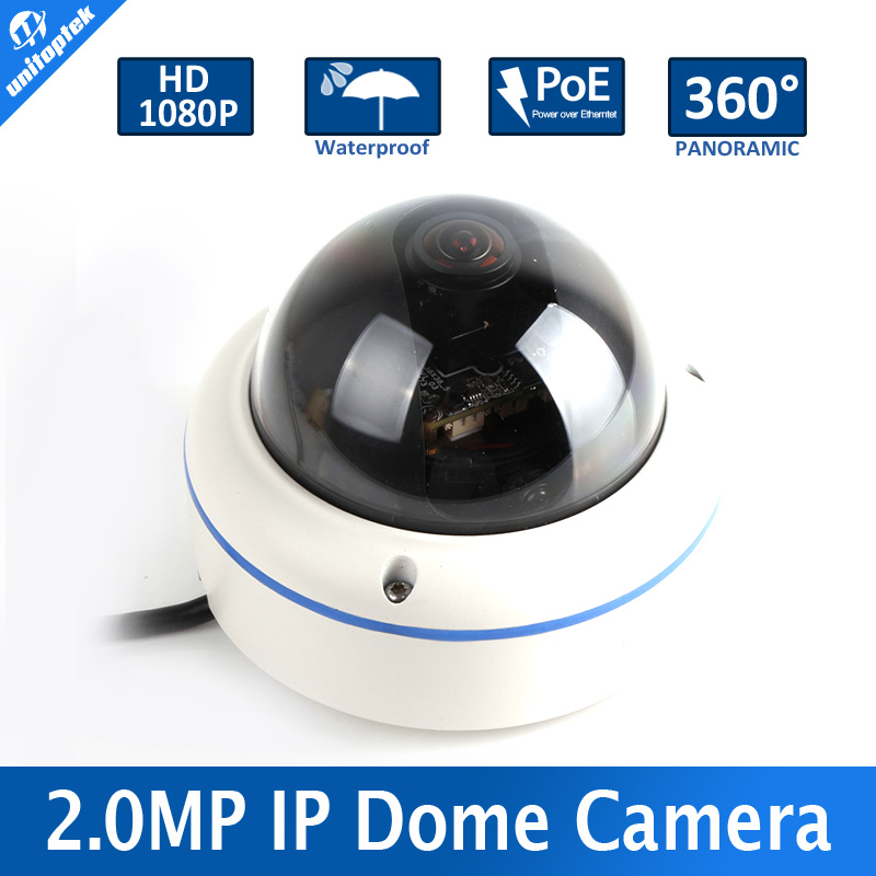 High Quality POE 2MP 1080P Outdoor IP Camera With 180/360 Degrees Full View Fish eye Lens Support Onvif and P2P Cloud View