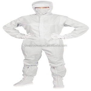 98% Polyester and 2% conductive carbon fiber cleanroom ESD garment